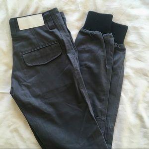 Kith NYC Mercer Charcoal Grey Twill Jogger Pant 26